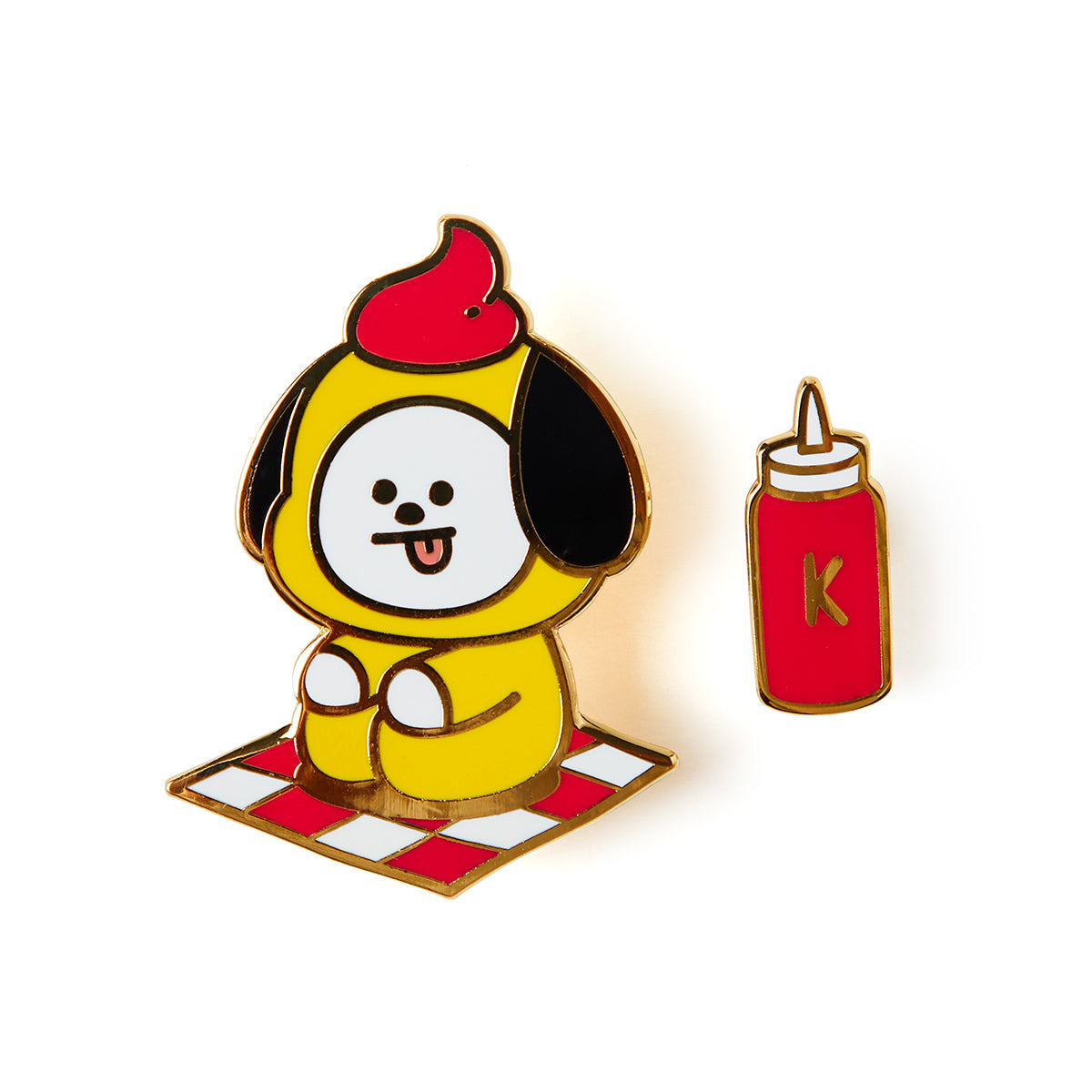 BT21 CHIMMY Bite Metal Badge