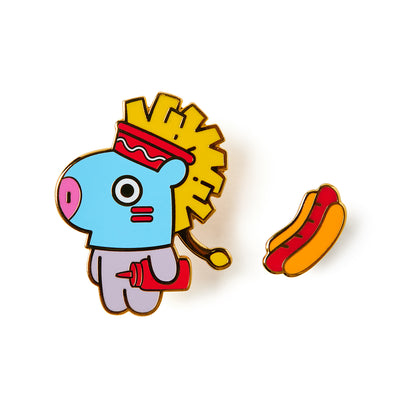 BT21 MANG Bite Metal Badge