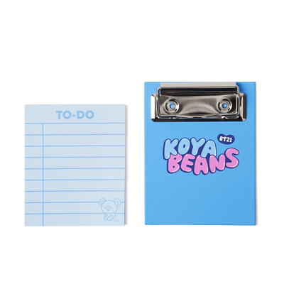 BT21 KOYA Sweet Clipboard Memopad Set