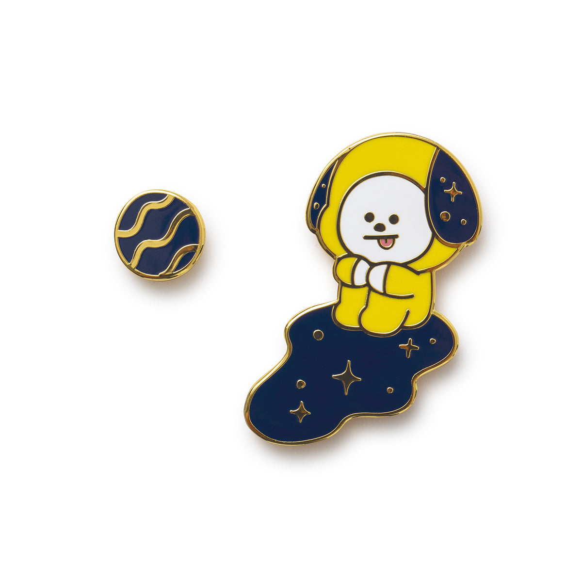 BT21 CHIMMY Universtar Metal Badge 1
