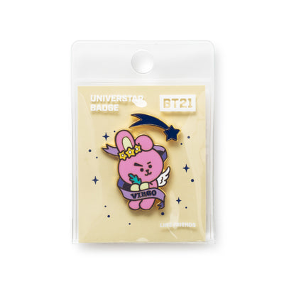 BT21 COOKY Universtar Metal Badge 1