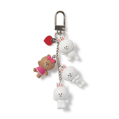LINE FRIENDS CONY & CHOCO Waggle Waggle Keyring