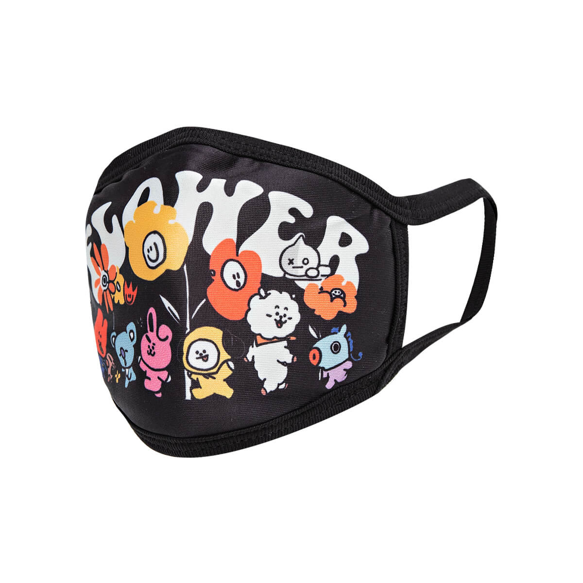 BT21 FLOWER Fashion Mask - Black