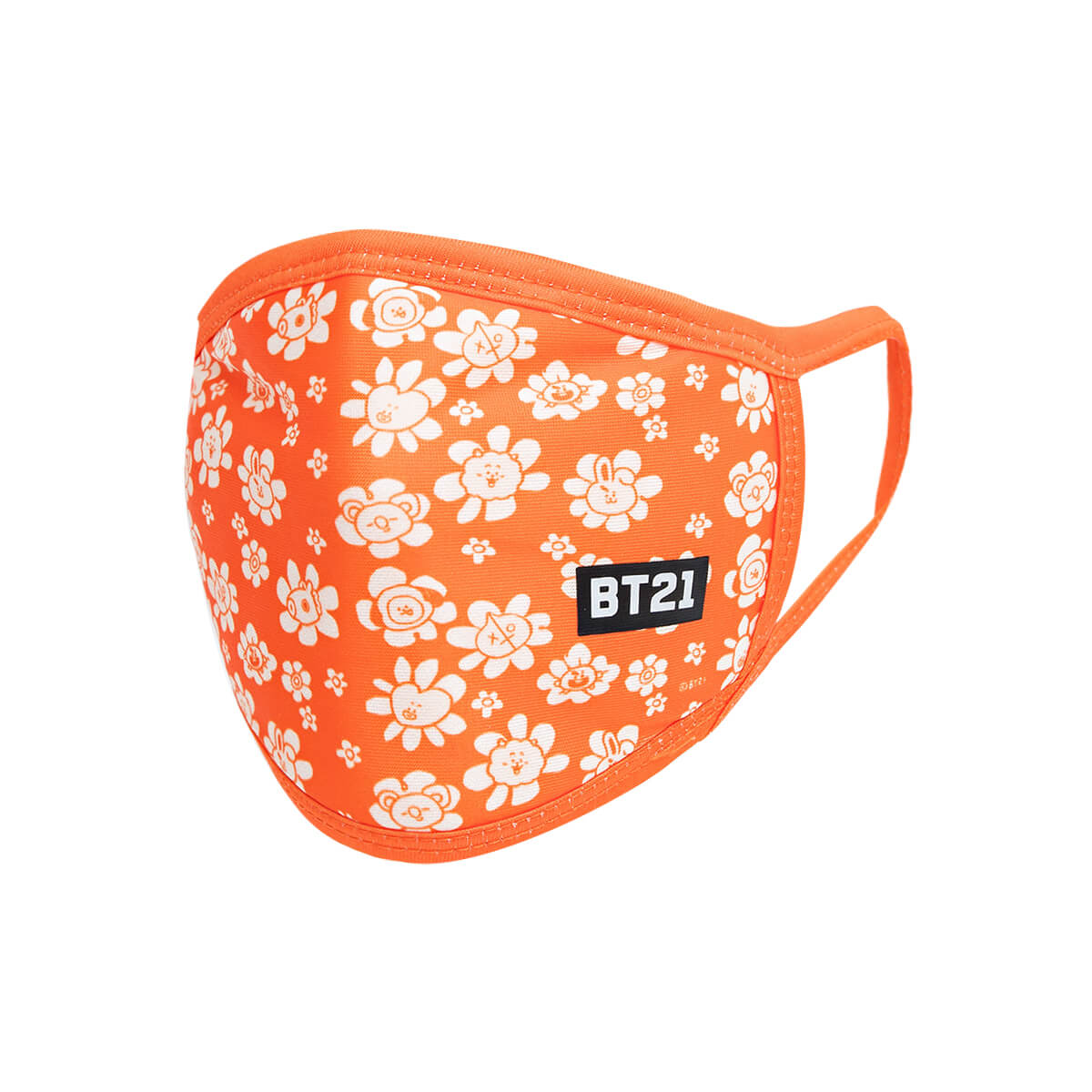 BT21 FLOWER Fashion Mask - Orange