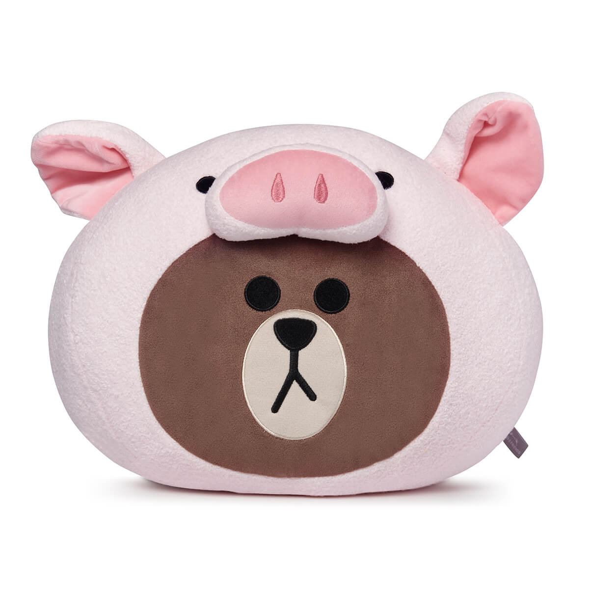 PIGGY BROWN Jungle Head Cushion 13.4""