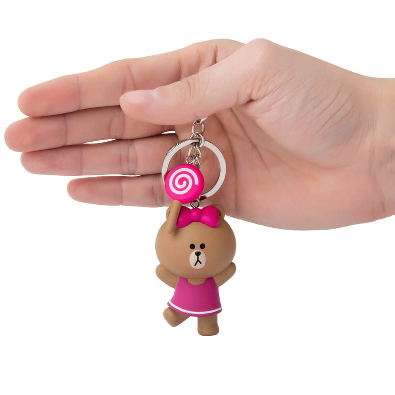 LINE FRIENDS CHOCO Mini Figure Keyring