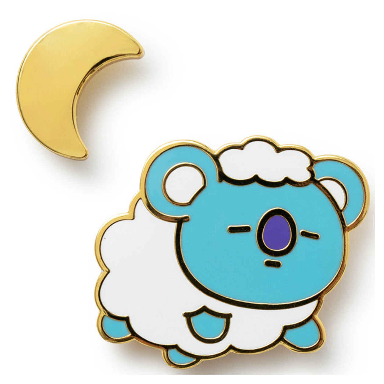 BT21 KOYA Universtar Metal Badge 1