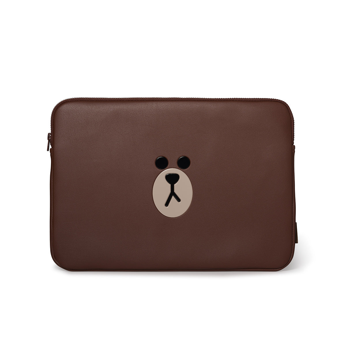 LINE FRIENDS BROWN Faux Leather 15 Inch Laptop Cover