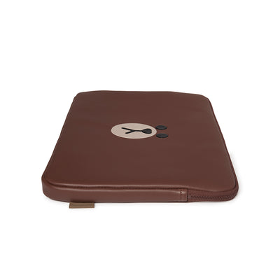 BROWN Faux Leather 15 Inch Laptop Cover