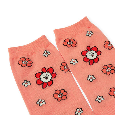 BT21 RJ 20 FLOWER Mid Socks 2 PC Set