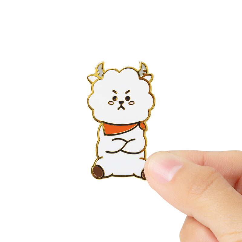 BT21 RJ Universtar Metal Badge 1