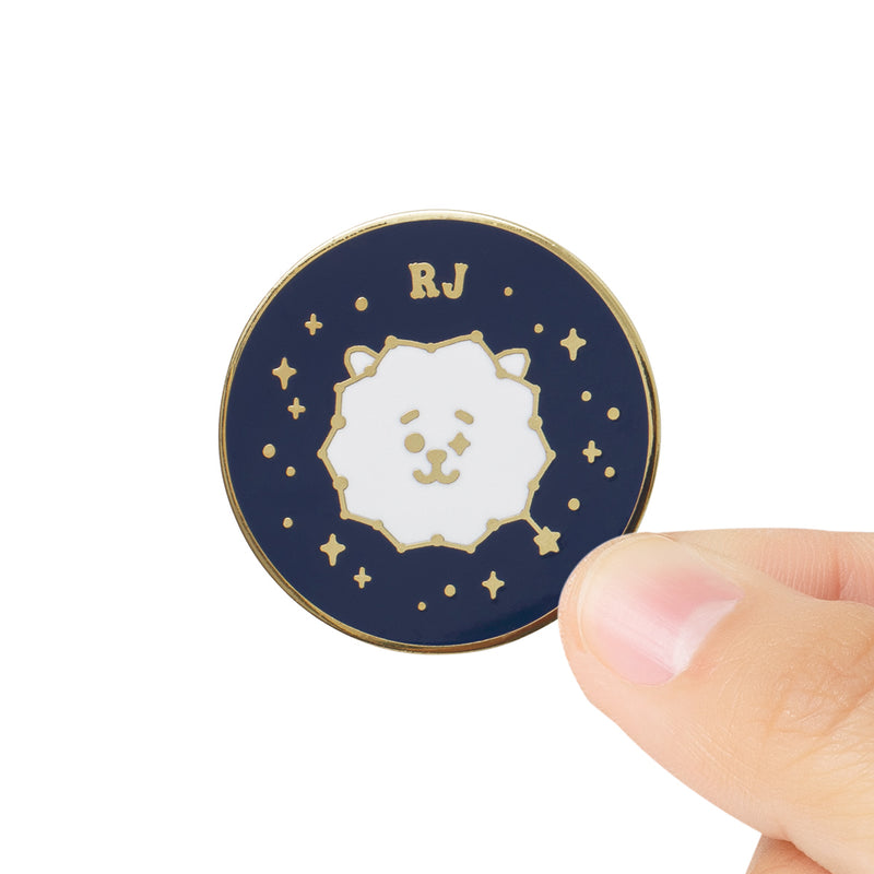 BT21 RJ Universtar Metal Badge 2