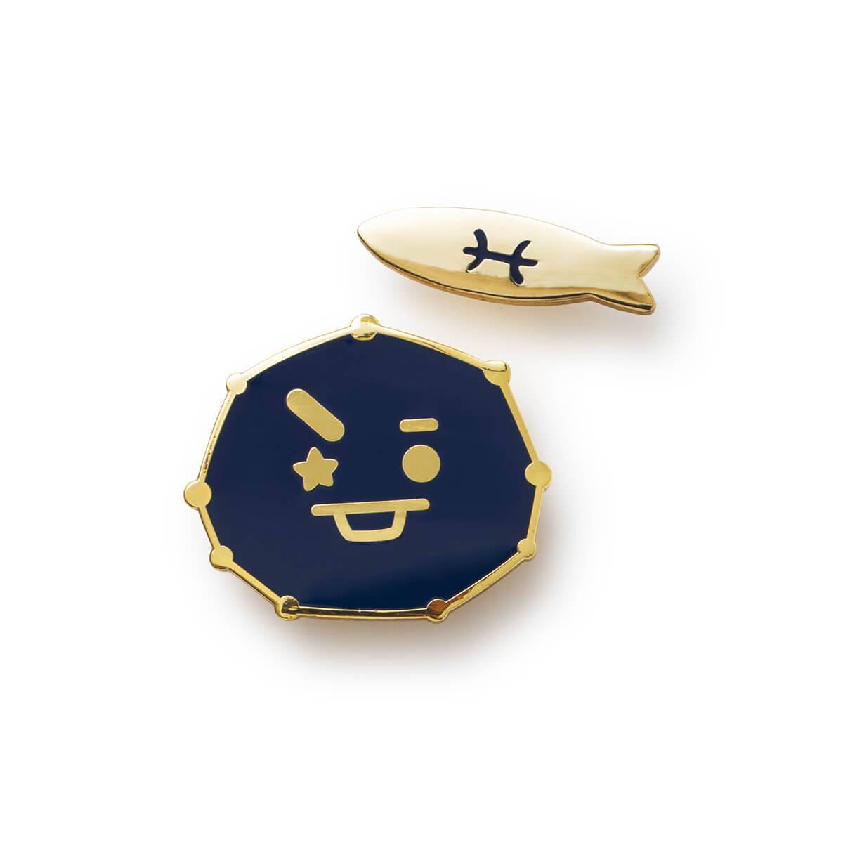 BT21 SHOOKY Universtar Metal Badge 3