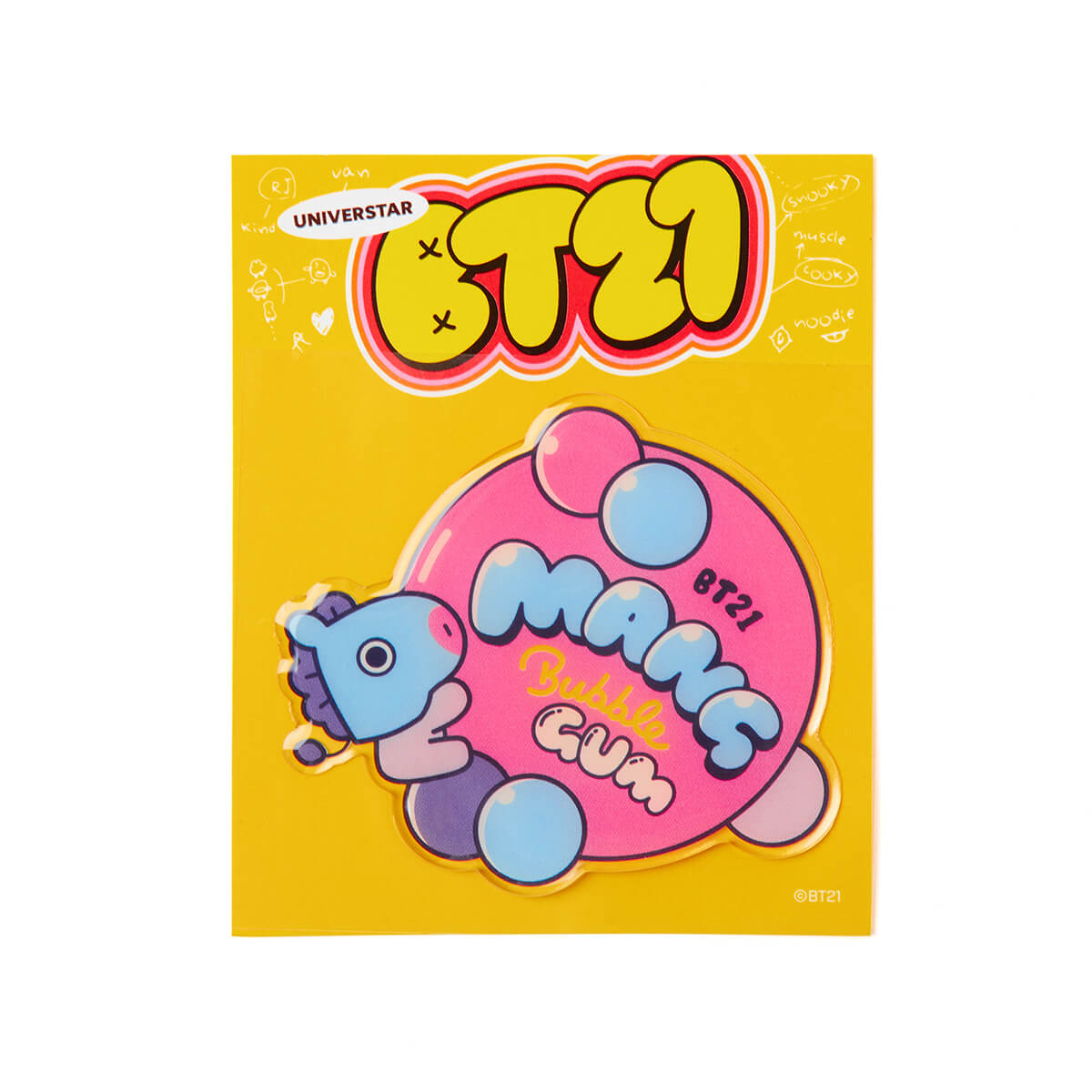 BT21 MANG Sweet Epoxy Sticker