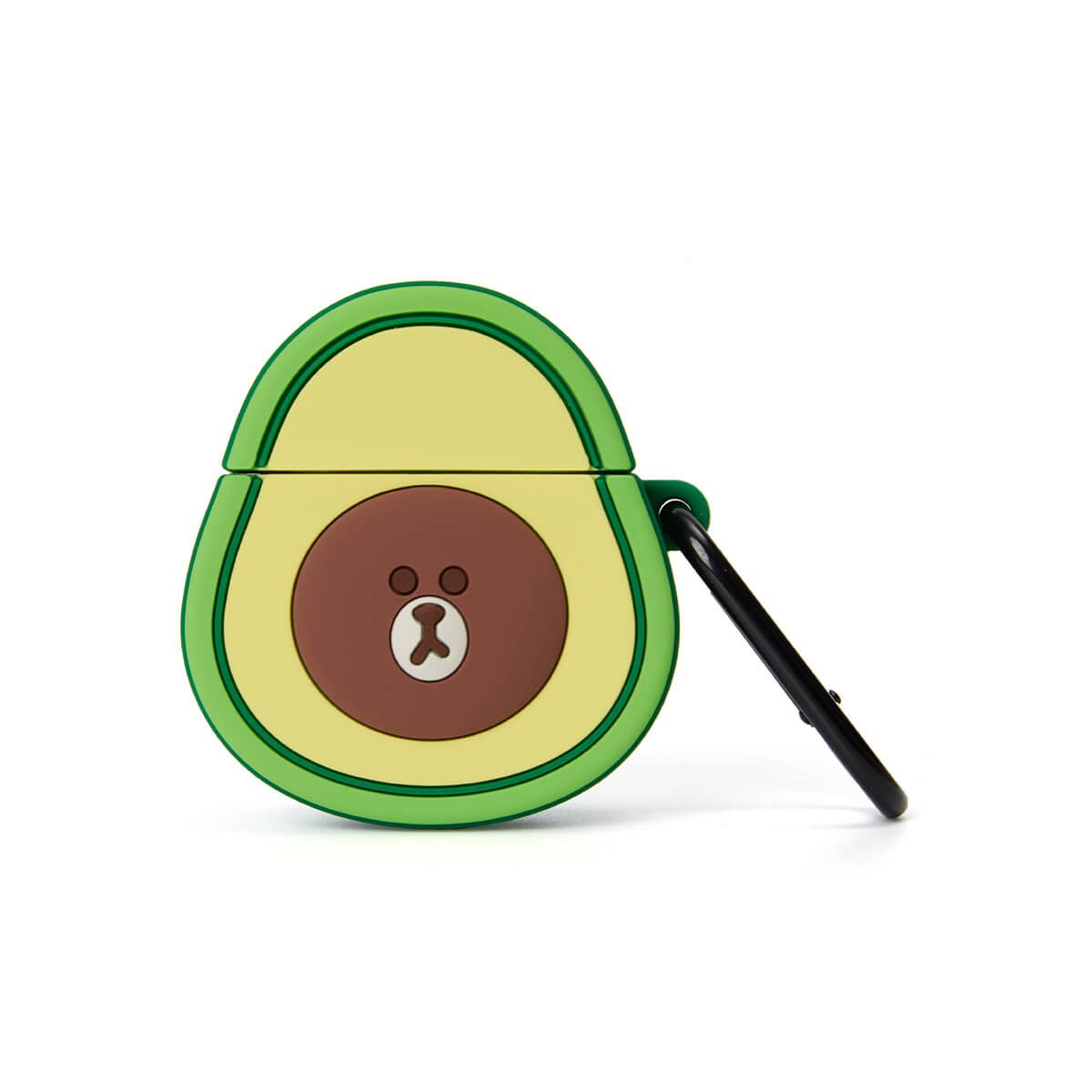 LINE FRIENDS BROWN Silicone Avocado AirPods (1 & 2) Case