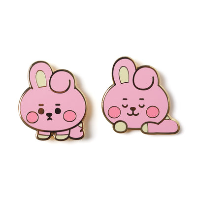BT21 COOKY BABY Enamel Pin 2 Piece Set