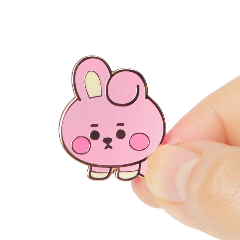 BT21 COOKY Baby Metal Badge