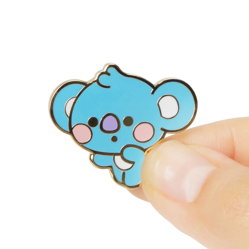 BT21 KOYA Baby Metal Badge