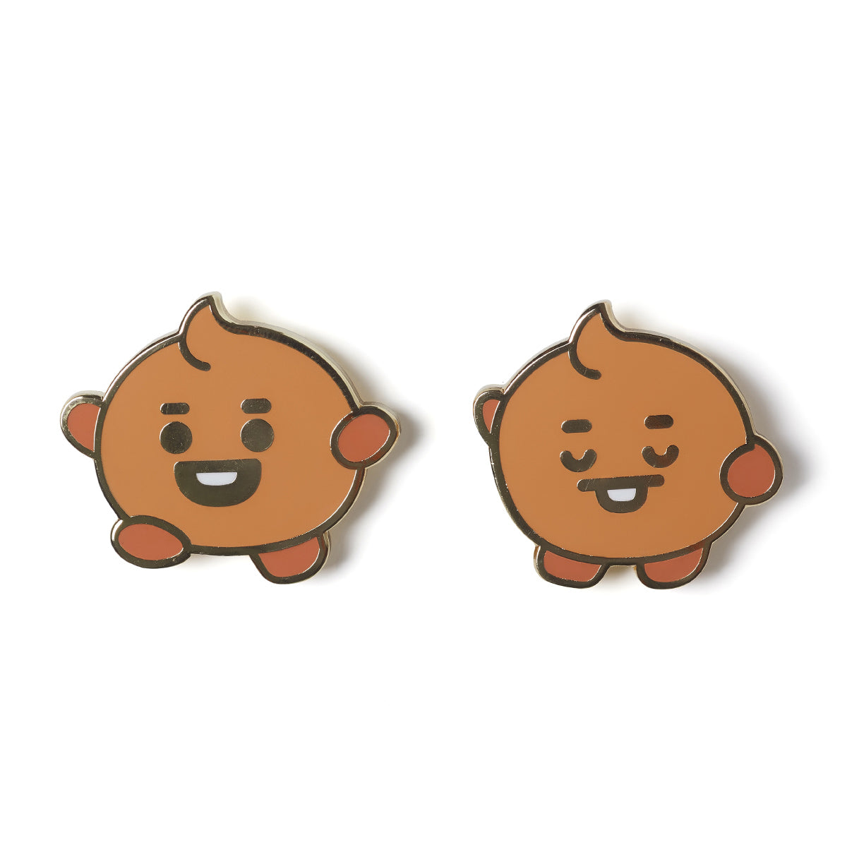 BT21 SHOOKY Baby Metal Badge
