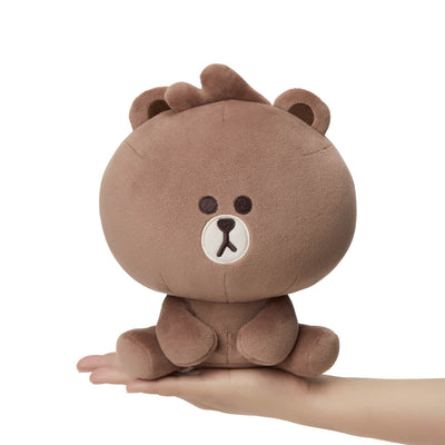 MINI BROWN Sitting Doll 7.9""