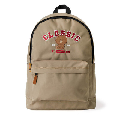 LINE FRIENDS BROWN 20 University Backpack Beige
