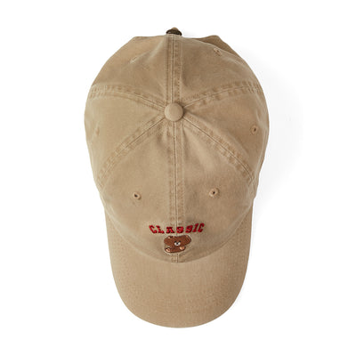 BROWN University Washed Ball Cap Beige