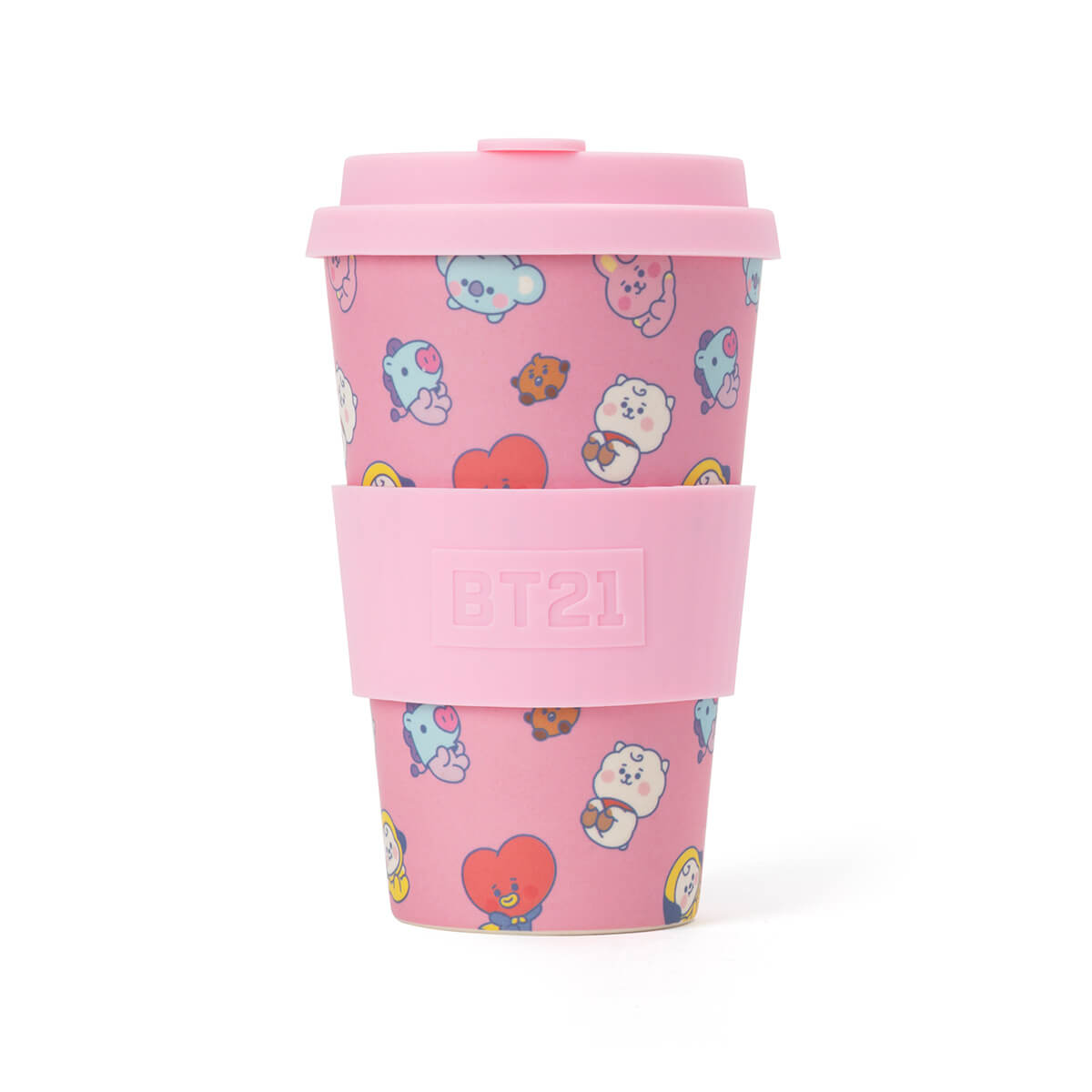 BT21 BABY Reusable Tumbler (400ml/13.5 fl.oz) Pink