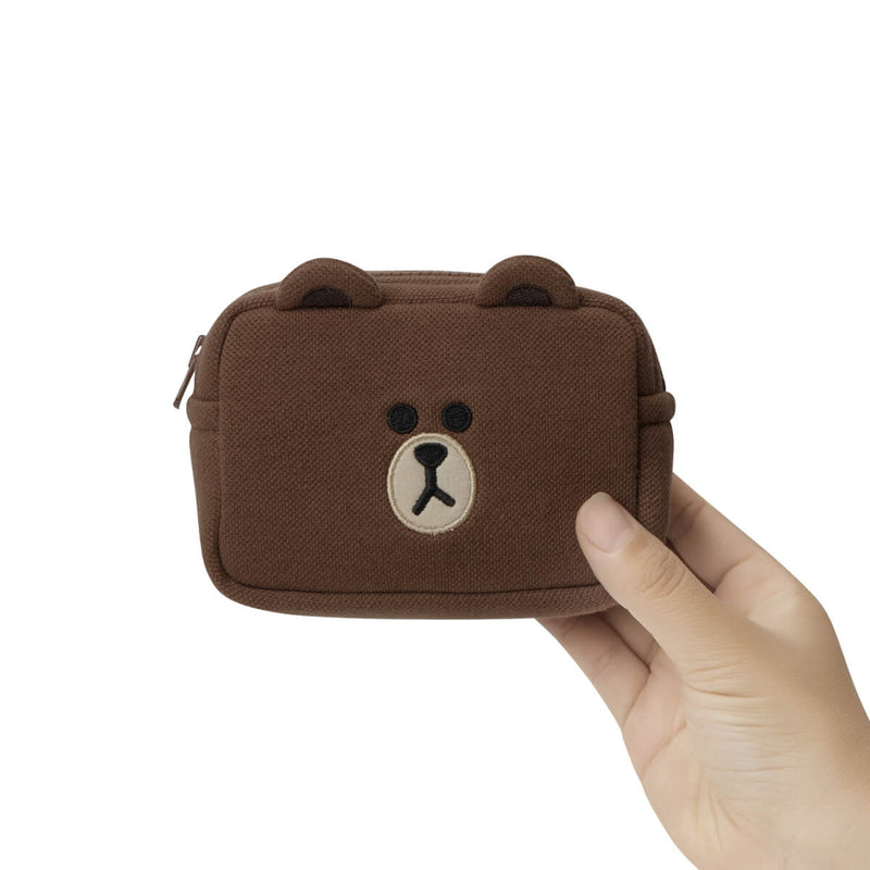 BROWN Basic Multi Pouch Small