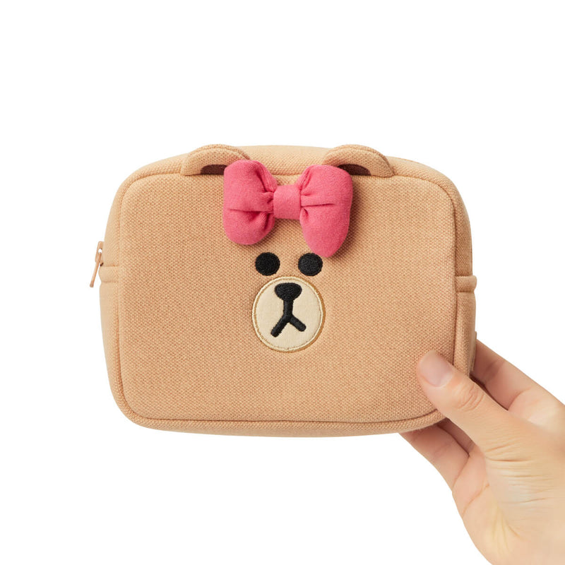 LINE FRIENDS CHOCO Basic Multi Pouch Medium