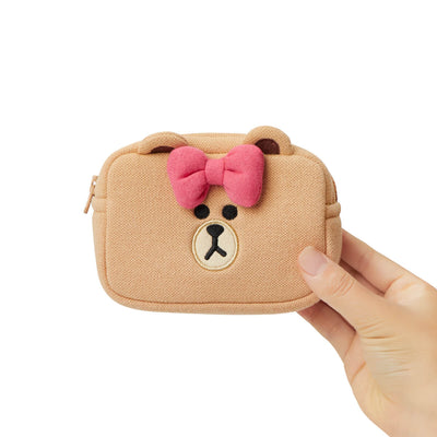 LINE FRIENDS CHOCO Basic Multi Pouch Small