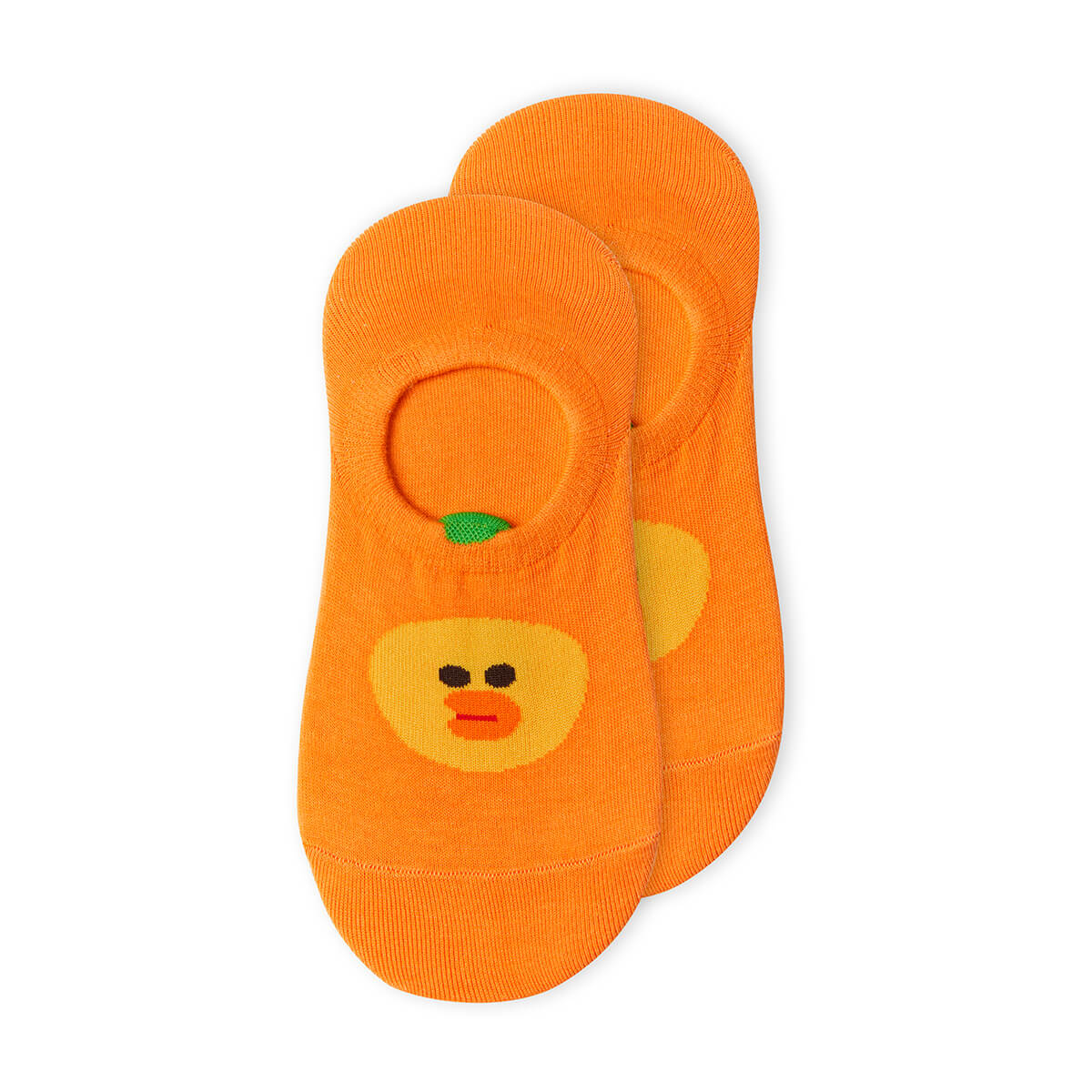 SALLY Fruity Orange Adult No Show Socks