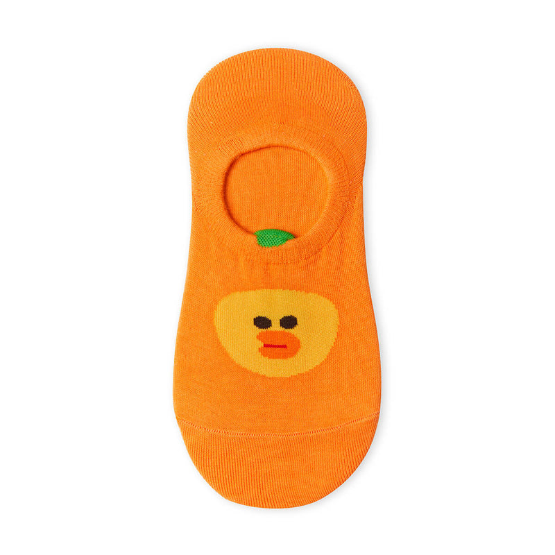 LINE FRIENDS SALLY Fruity Orange Adult No Show Socks