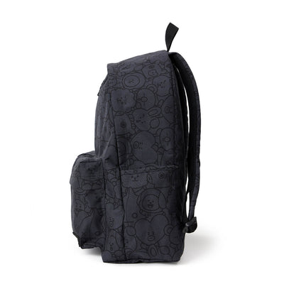 BT21 20 HEART WAGGLE WAGGLE TWO POCKET BAKCKPACK Dark Grey