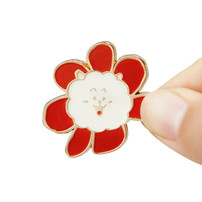 BT21 RJ Flower Enamel Pin 2 Piece Set
