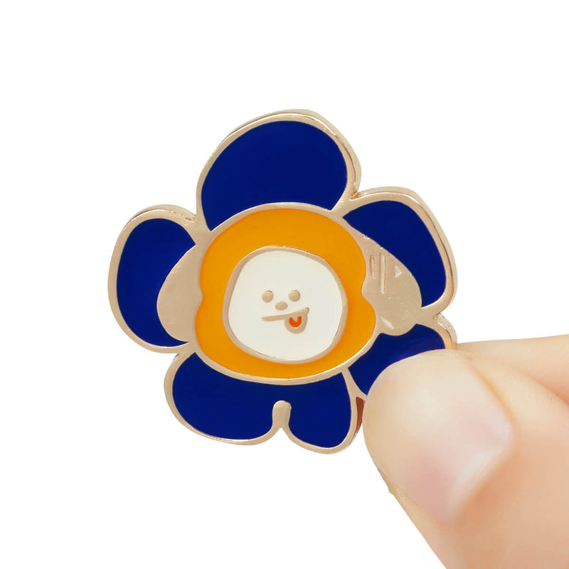 BT21 CHIMMY Flower Enamel Pin 2 Piece Set