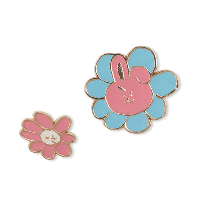 BT21 COOKY Flower Enamel Pin 2 Piece Set