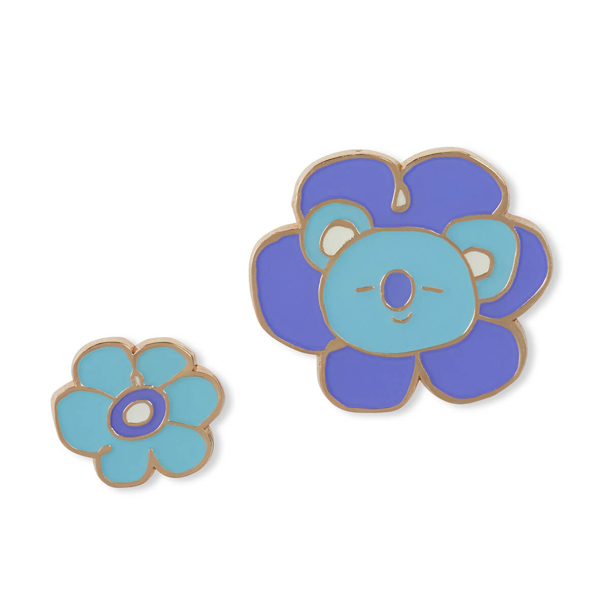 BT21 KOYA Flower Enamel Pin 2 Piece Set