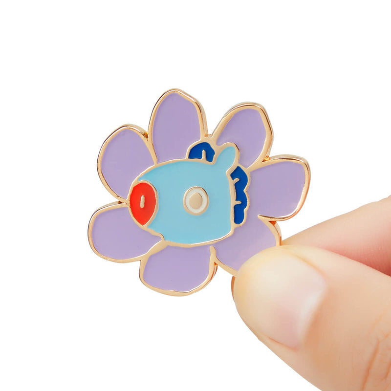 BT21 MANG Flower Enamel Pin 2 Piece Set