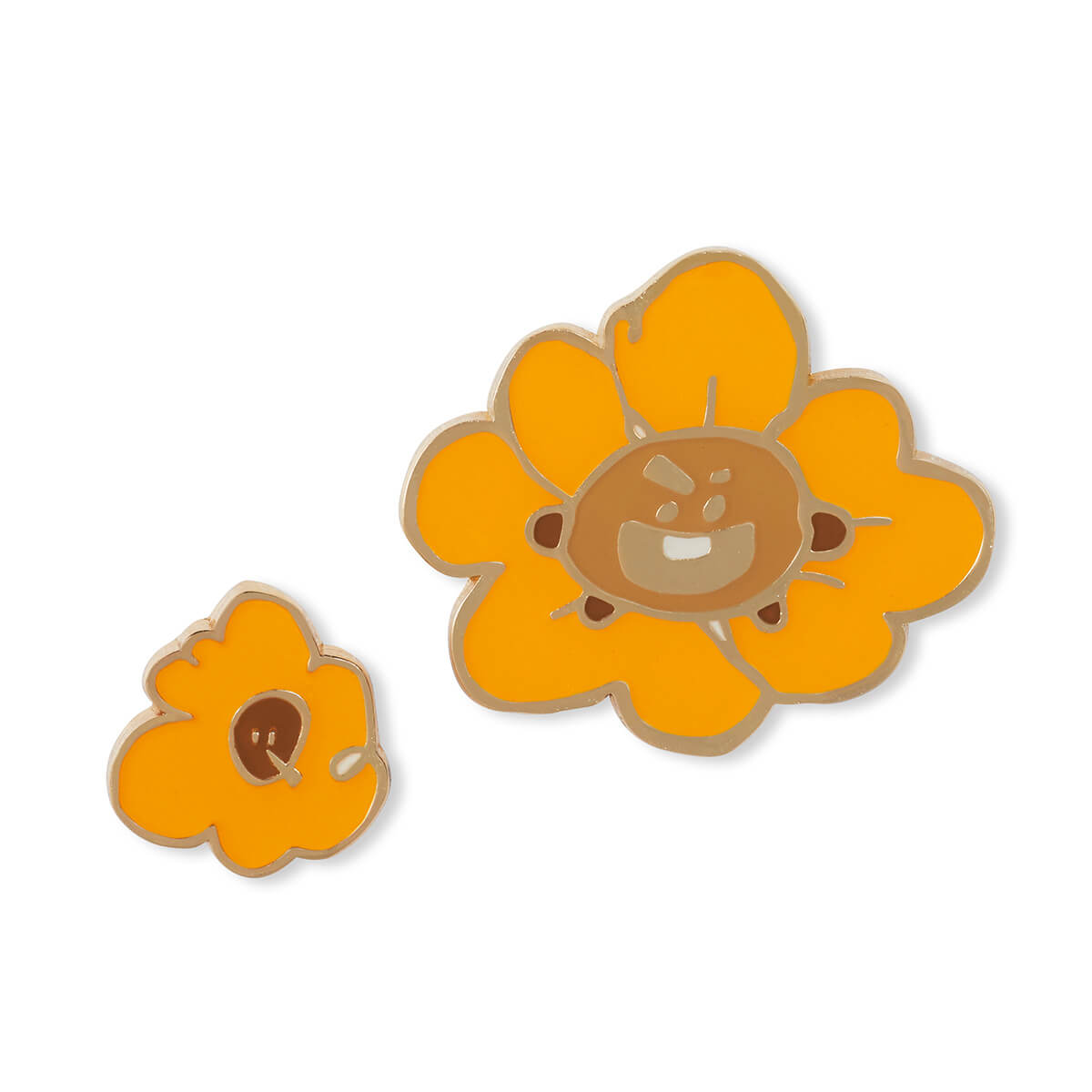 BT21 SHOOKY Flower Enamel Pin 2 Piece Set