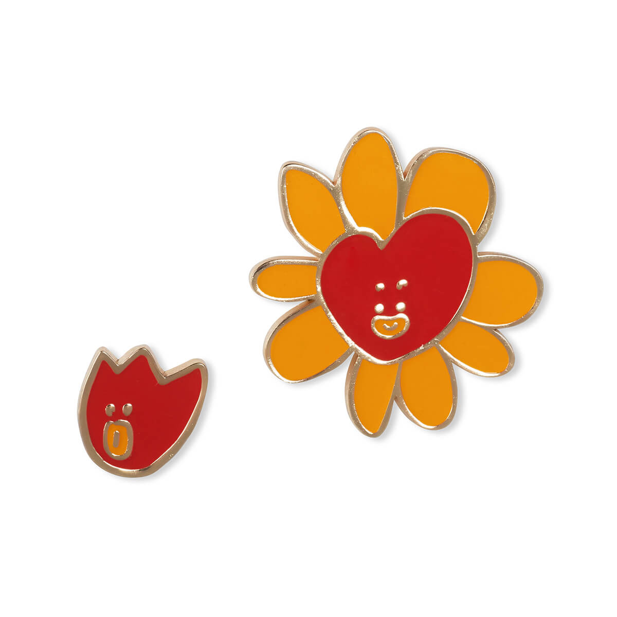 BT21 TATA Flower Enamel Pin 2 Piece Set