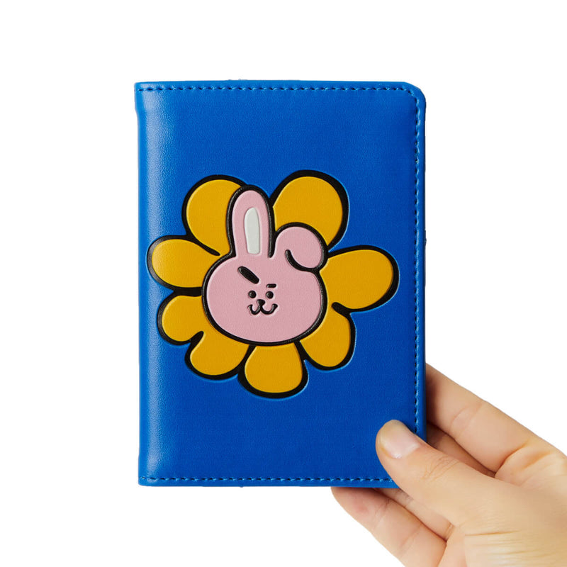 BT21 COOKY Flower Graphic Passport Cover