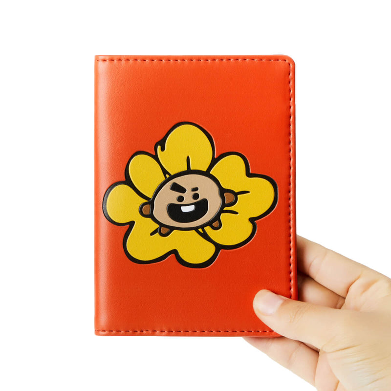 BT21 SHOOKY Flower Graphic Passport Cover