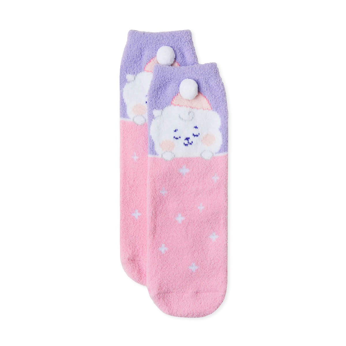 BT21 RJ Dream of Baby Fuzzy Sleep Socks