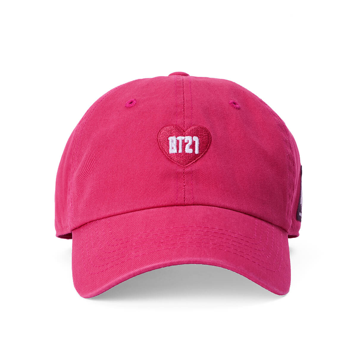 BT21 Heart Embroidered Twill Baseball Cap