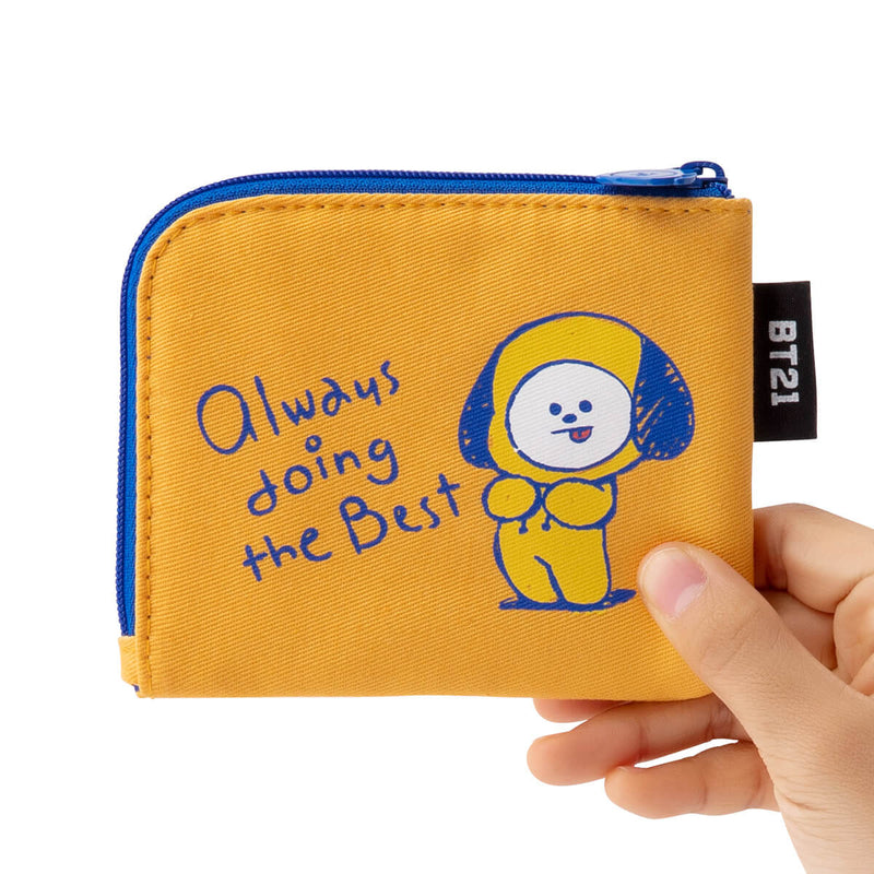 BT21 CHIMMY Zippered Credit Card Wallet Pouch