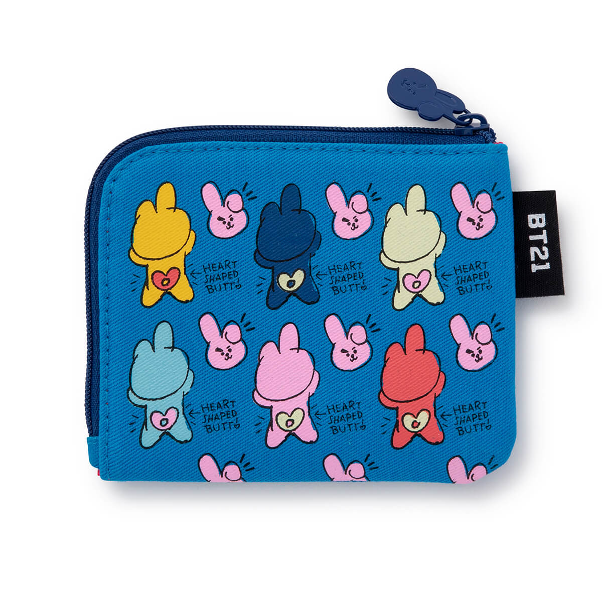 BT21 COOKY Zippered Credit Card Wallet Pouch