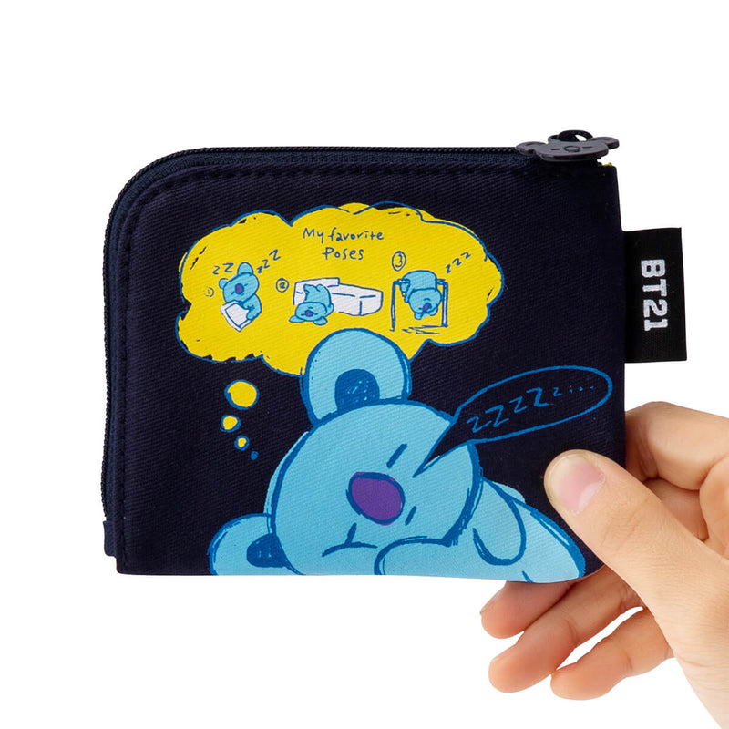 BT21 KOYA Zippered Credit Card Wallet Pouch