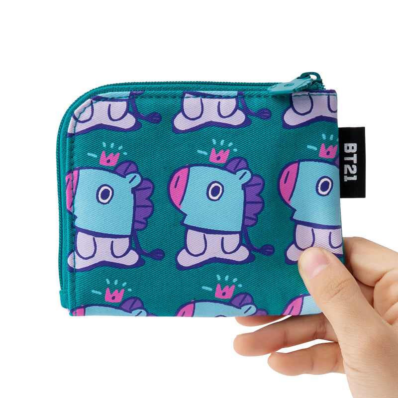 BT21 MANG Zippered Credit Card Wallet Pouch