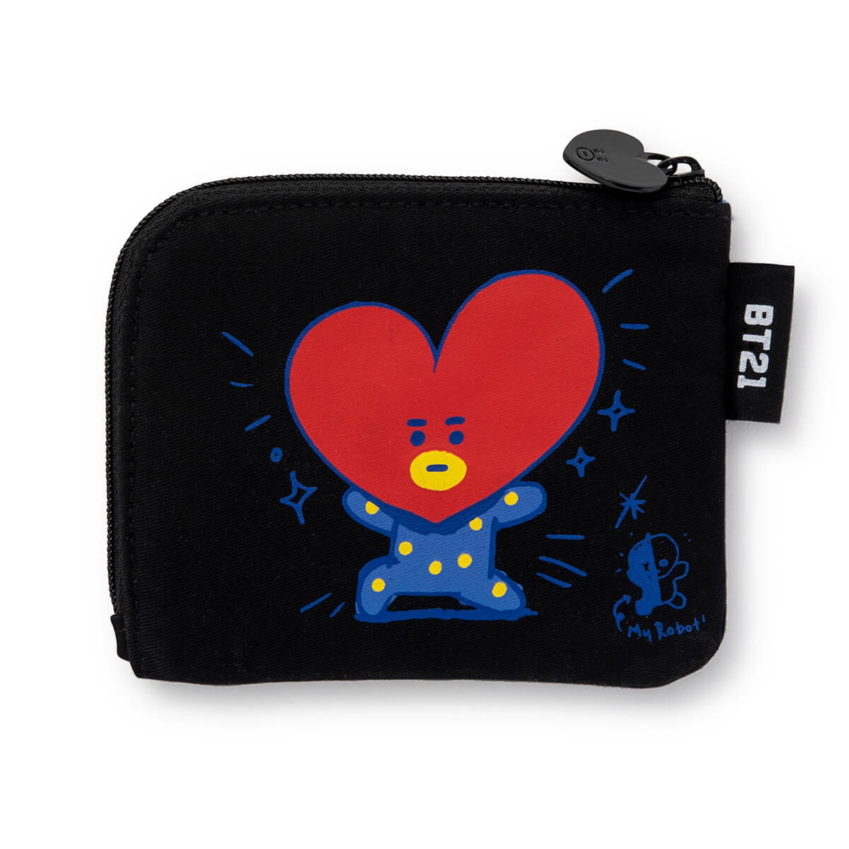 BT21 TATA Zippered Credit Card Wallet Pouch