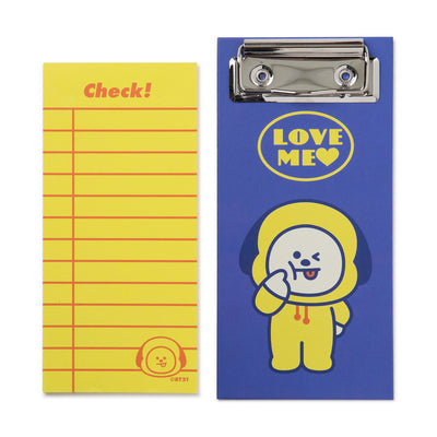 BT21 CHIMMY Clip board & Note Pad Set